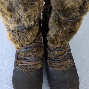Sanita Genuine Leather, Faux Fur, Mid-calf  sz 8